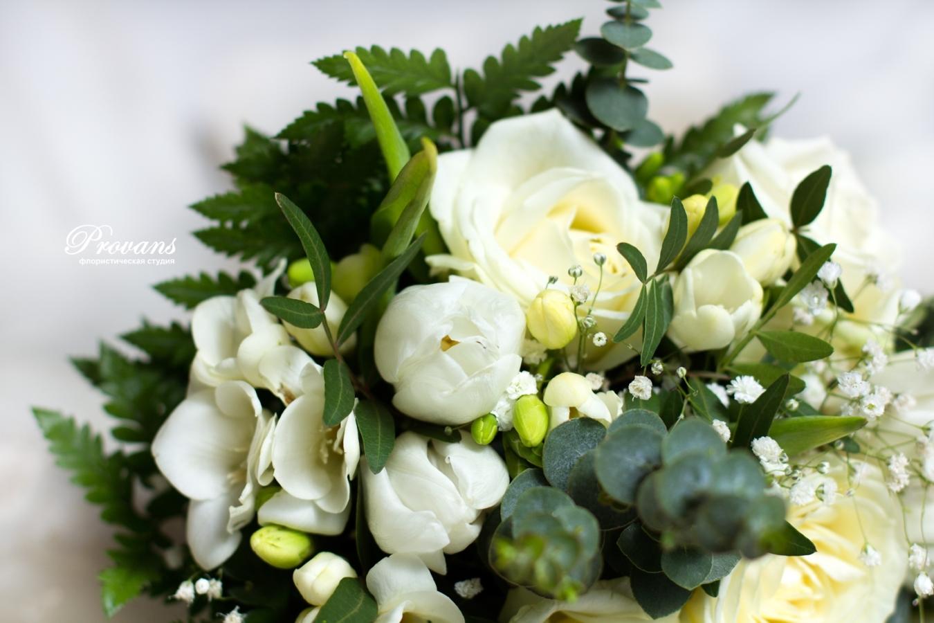 Свадебный букет. Роза, фрезия
