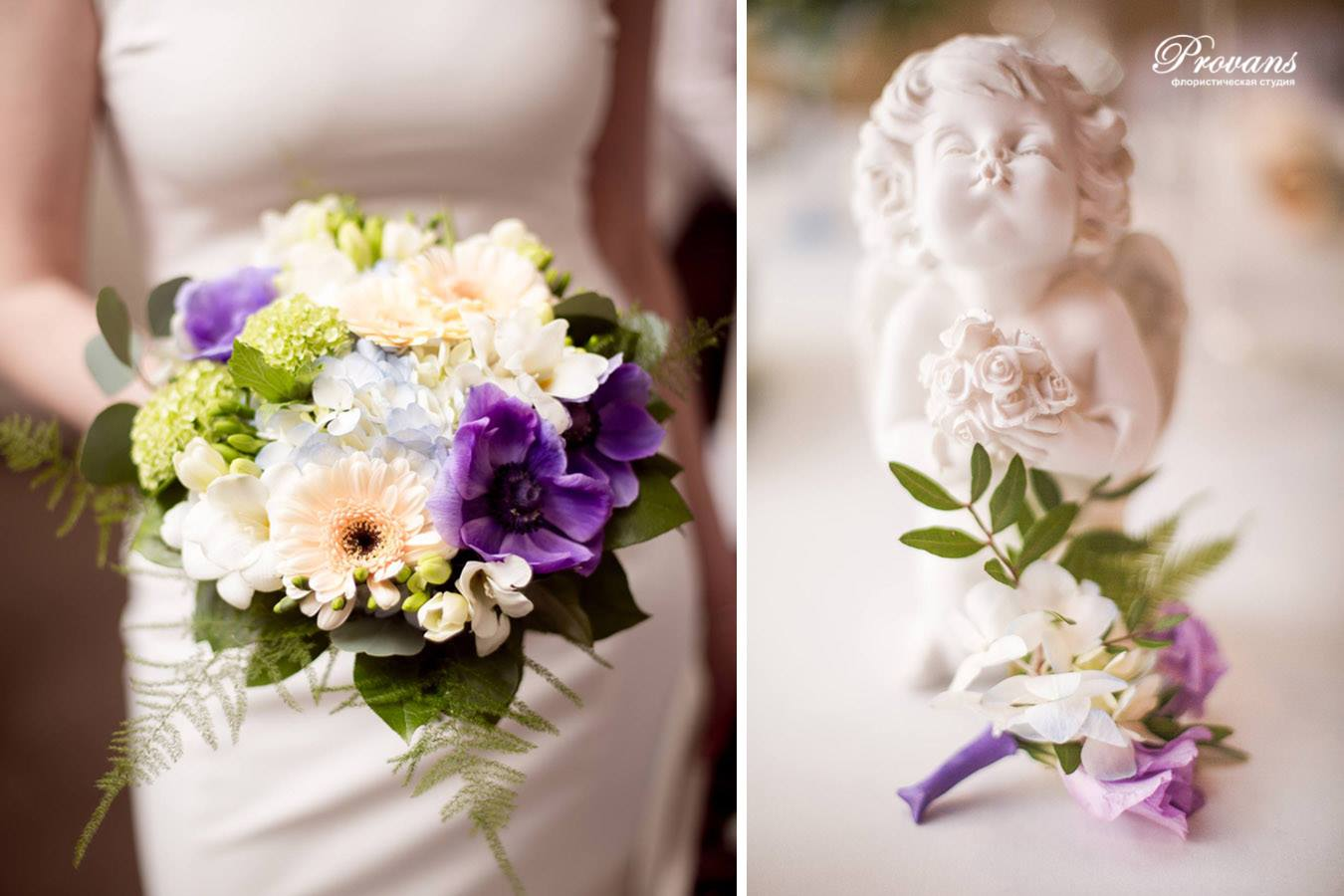 Свадебное оформление. Букет невесты. Бутоньерка