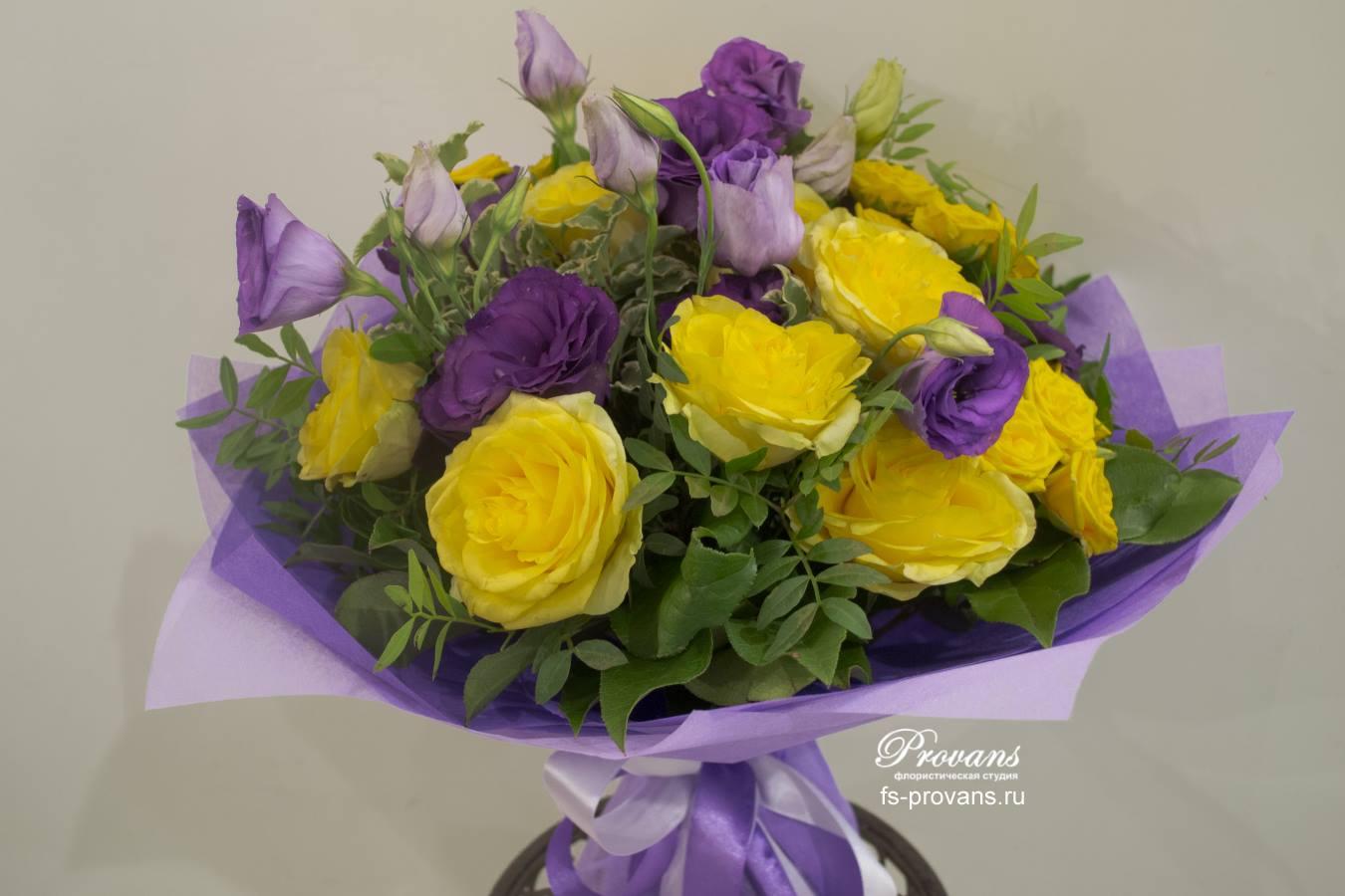 Букет желтый фиолет