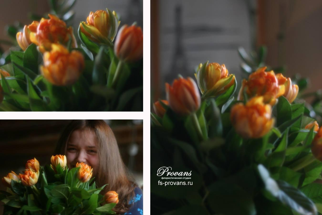 Букет тюльпанов. Спасибо от Елены