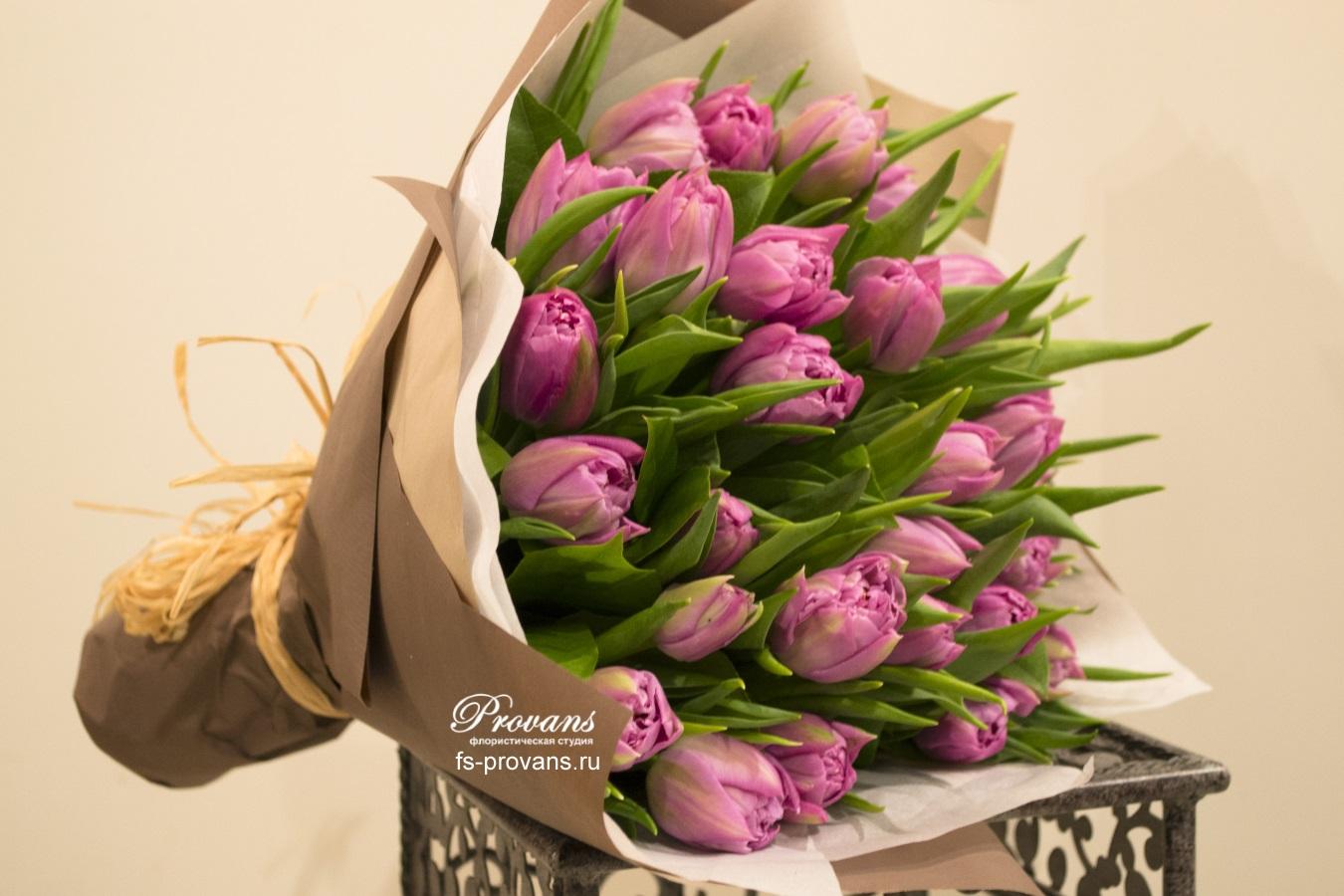 Букет пионовидных тюльпанов