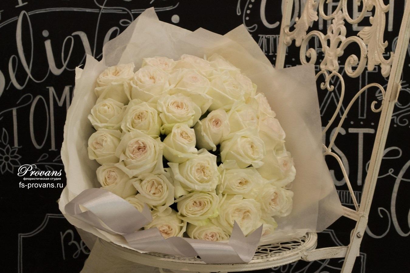 Букет на день рождения. Ароматные розы